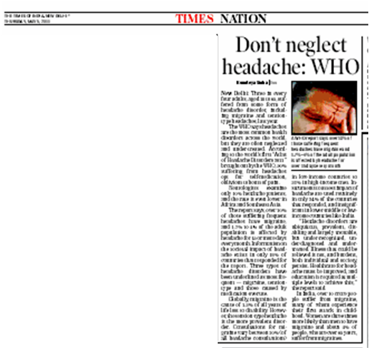 Times of India, 5th May 2011